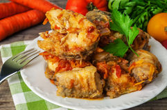 Delicious stewed fish Royalty Free Stock Images