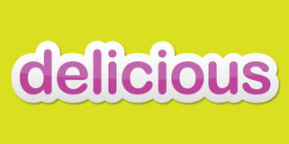Delicious sticker Stock Images