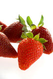 Delicious strawberries. Isolated strawberries Royalty Free Stock Images