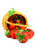 Delicious strawberries in basket Stock Photo