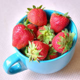 Delicious strawberries in a cup Stock Photography