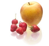 Delicious strawberry and apple Royalty Free Stock Image