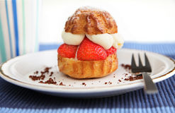Delicious strawberry cake Royalty Free Stock Photos