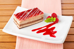 Delicious strawberry cake Stock Images