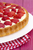 Delicious strawberry cake with cream Stock Photography