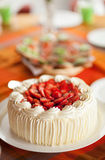 Delicious strawberry cake Royalty Free Stock Photo