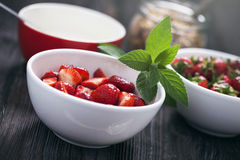 Delicious strawberry dessert Stock Photography