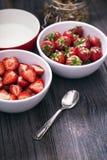 Delicious strawberry dessert Stock Photo