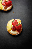 Delicious strawberry and pineapple pastry Royalty Free Stock Images