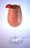 Delicious strawberry smoothie drink Stock Photography