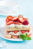 Delicious strawberry tiramisu Royalty Free Stock Images
