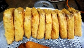 Delicious street food, Bread pakoda. stock photography