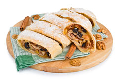 Delicious strudel Stock Photography