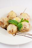 Delicious stuffed mushrooms with cheese Stock Photo