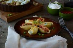 Stuffed pasta shells royalty free stock photo