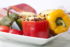 Delicious Stuffed Peppers. Royalty Free Stock Photo