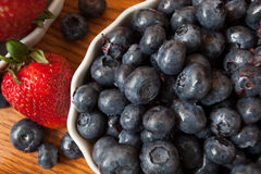 Delicious succulent blueberries Royalty Free Stock Image