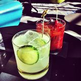 Delicious Summer Cocktails. With an Instagram effect filter Stock Image