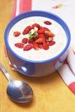 Delicious summer oatmeal Stock Photos