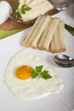 Delicious sunny side egg with roasted toast Royalty Free Stock Images