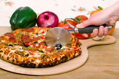 Delicious supreme pizza Royalty Free Stock Image