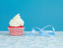 Delicious surprise cupcake Stock Photos