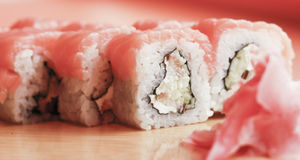 Delicious Sushi. Delicious prepared of sushi rolls Stock Photography
