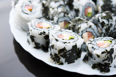 Delicious sushi on a dish Royalty Free Stock Image