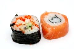 Delicious sushi isolated Royalty Free Stock Photo