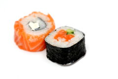 Delicious sushi isolated Royalty Free Stock Images