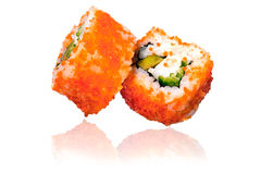 Delicious sushi maki rolls Royalty Free Stock Images