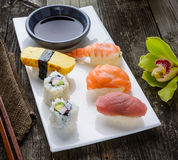 Delicious sushi meal Stock Photography