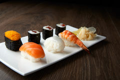 Delicious sushi meal Royalty Free Stock Images