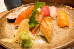 Delicious sushi on a plate Stock Photography