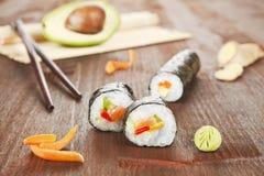 Delicious sushi roll. Stock Photos