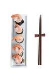 Delicious sushi rolls Stock Photos