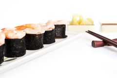 Delicious sushi rolls Royalty Free Stock Photography