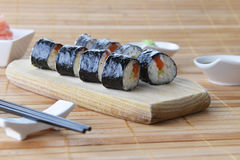 Delicious sushi rolls Stock Photography
