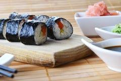 Delicious sushi rolls Stock Photo