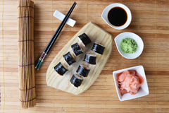 Delicious sushi rolls Royalty Free Stock Photos