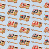 Delicious sushi, seamless pattern Stock Photography