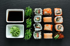 Delicious sushi set Royalty Free Stock Photography