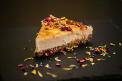 Delicious sweet baked cake with fresh fruit Royalty Free Stock Photography