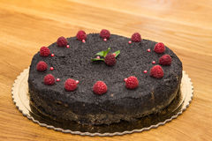 Delicious sweet baked cake with fruit Royalty Free Stock Photo