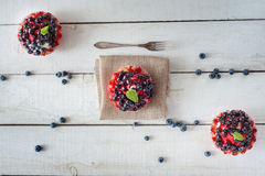 Delicious and sweet blueberry cookie Stock Photos