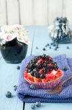 Delicious and sweet blueberry cookie Royalty Free Stock Image