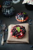 Delicious and sweet blueberry cookie Royalty Free Stock Photography
