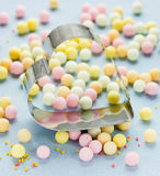 Delicious sweet bubble and cutter heart confectionery Stock Photography