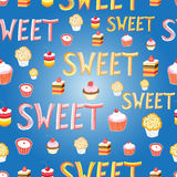 Delicious sweet cakes Royalty Free Stock Images