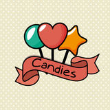 Delicious sweet candies icon. Illustration design Royalty Free Stock Images